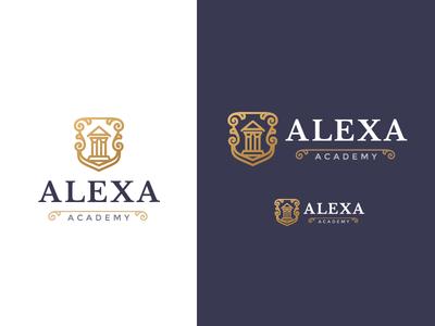 Alexa Academy Mark school academy logo symbol mark