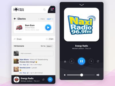 Music Player ui ux button app music player radio