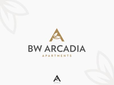 Arcadia Logo leaf letter a apartments mark logo