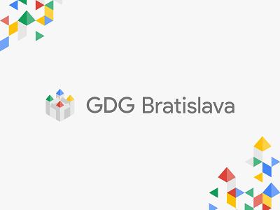 GDG Bratislava isometric isomety identity branding brand logotype logo castle google gdg