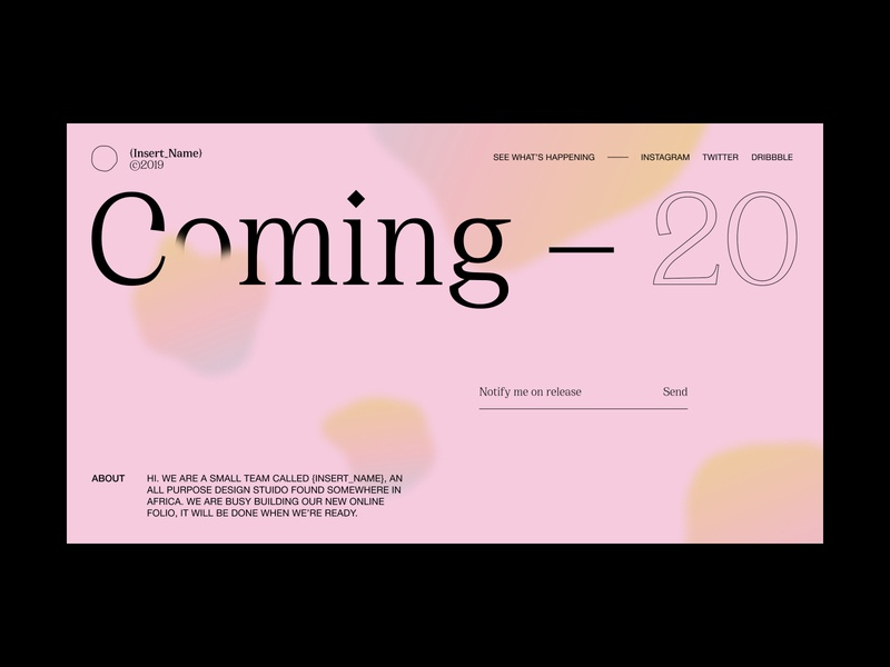 Daily UI #48 // Coming Soon concept design website concept website design web design coming soon page abstract abstract design design simple light ui minimal daily ui clean ui ui
