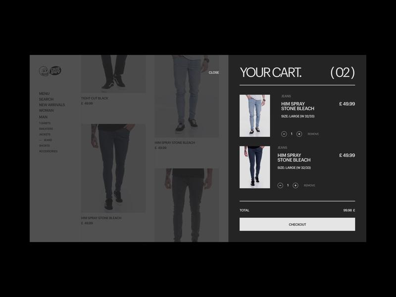 Daily UI #58 // Shopping Cart concept design concept ui concept webui web design website shopping shopping cart cart clothing ecommerce shop ecommerce design minimal daily ui clean ui ui