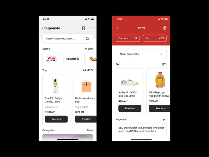 Daily UI #61 // Redeem Coupon concept ui concept coupon mobile ui design app design app mobile app design mobile design mobile ui light ui mobile app minimal daily ui clean ui ui
