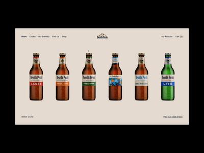Daily UI #45 // Info Card prototype card design info product design beer concept design concept web ui website concept website design website design light ui minimal daily ui clean ui ui