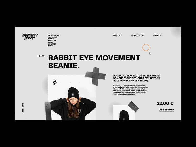 Power Hour // 03 — Rabbit Eye Movement Webshop ecommerce design ecommerce ui design clothing noise typography website design web design design light ui minimal clean ui ui