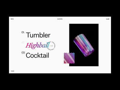 Coloured Caustics // Concept style tiles 001 — 010 website typography layout 3d landing page minimal ui webdesign design ux ui