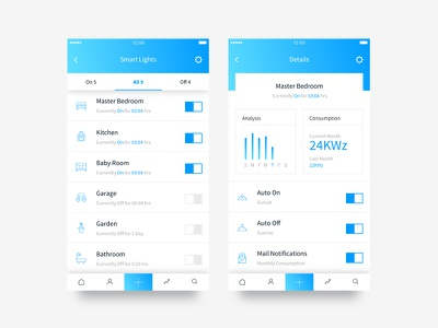 Daily UI #015 On/Off Switch minimal ui home app smart app onoff switch light ui clean ui app interface mobile app ui daily ui challenge