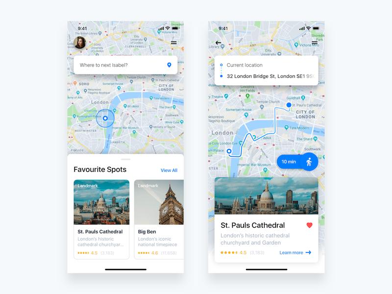 Daily ui 20 location tracker screen attachment