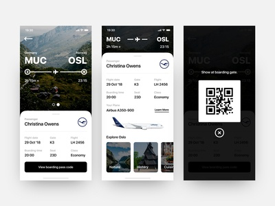 Daily UI #024 // Boarding Pass