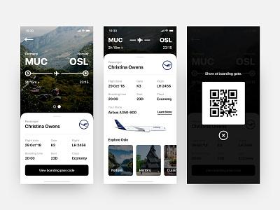 Daily UI #024 // Boarding Pass minimal 23 plane flight airlines boarding pass daily ui light ui mobile app clean ui ui