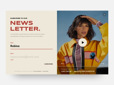 Daily UI #026 // Subscribe design ui ux ux newsletter email banner subscribe daily ui minimal clean ui ui