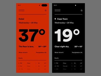 Daily UI #37 // Weather — 1