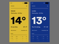 Dribbble Daily UI #37 // Weather — 2
