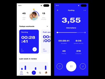 Daily UI #41 // Workout Tracker