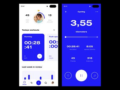 Daily UI #41 // Workout Tracker workout tracker workout workout app design simple light ui mobile app minimal daily ui clean ui ui