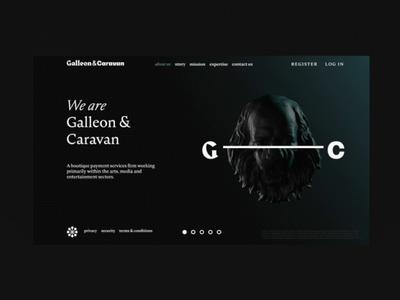 Illustration Transition ui animated evrone design block website site dark promo web caravan galleon change cinema4d cinema 3d illustration transition animation blockchain