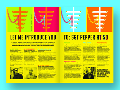 Magazine feature - Sgt Pepper's liverpool ringo paul mccartney john lennon sgt peppers the beatles beatles feature dps editorial layout editorial design editorial layout design layout magazine design magazine