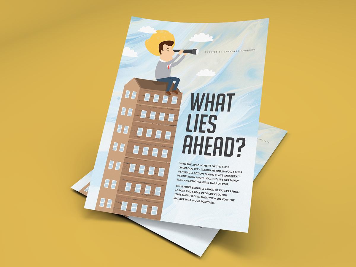 Magazine intro page - market outlook future outlook intro illustration art illustration editorial layout editorial design editorial layout design layout magazine design magazine