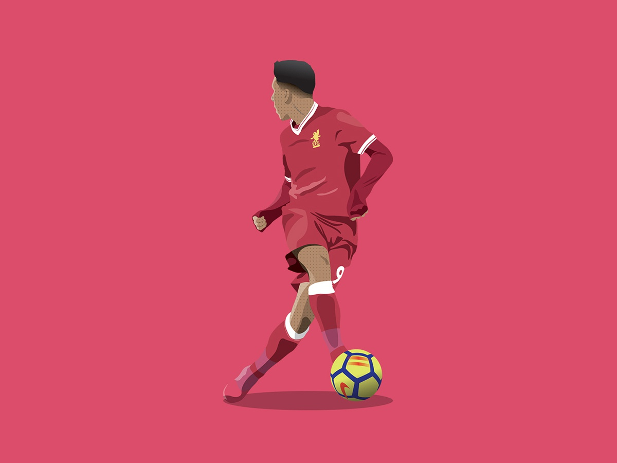 Bobby Firmino goal action no look player soccer football lfc liverpool fc liverpool illustration bobby bobby firmino