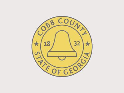 Cobb County Seal county seal county crest state georgia logo modern logo minimalistic minimalist logo modern county cobbcounty illustrator vector design crest logo crest seal