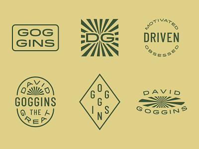 Goggins Brand Lockup Set lockup set logo branding brand design david goggins lockups identity set badge brand mark brand identity