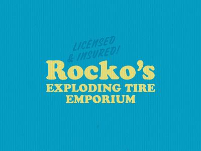 Rocko's typography branding lockup logo design
