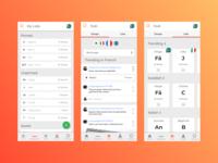 Phrasebook Mobile - Lists + Hub