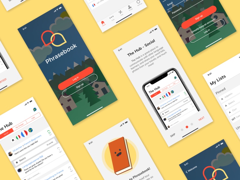 Phrasebook iOS Concept branding mobile design ux ios app ui flat