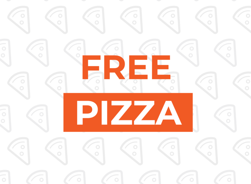 Free Pizza! pizza free vector icon typography design flat
