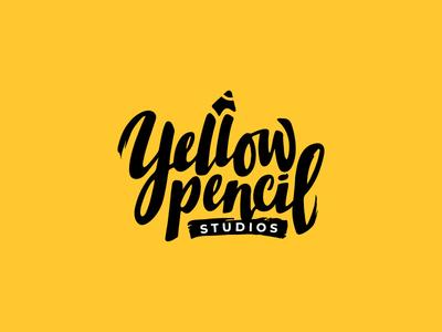 Yellow Pencil Studios Logo pencils typography design logo illustration branding