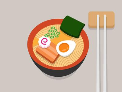 Ramen motion design foodie noodles flat design vector motion chopsticks japanese nori motion graphics animation food egg ramen