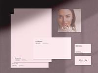 Beauty Salon Identity Part 2 - And a secret in the description brand design letterhead logodesign woman pink minimalism typography identity logo design