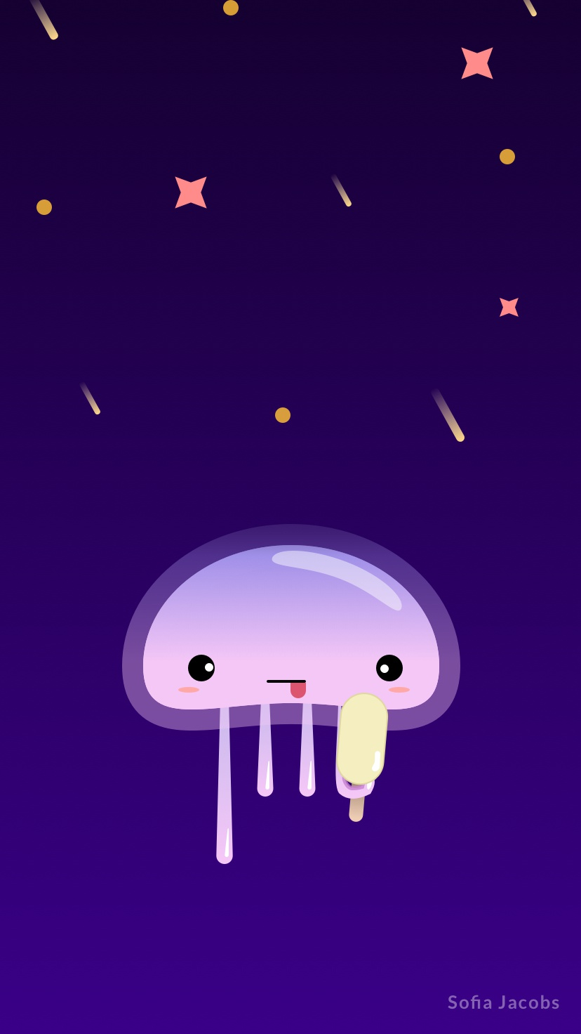 Jellyfish Wallpaper Iphone By Sofia Jacobs On Dribbble