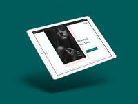 E-commerce beauty website concept