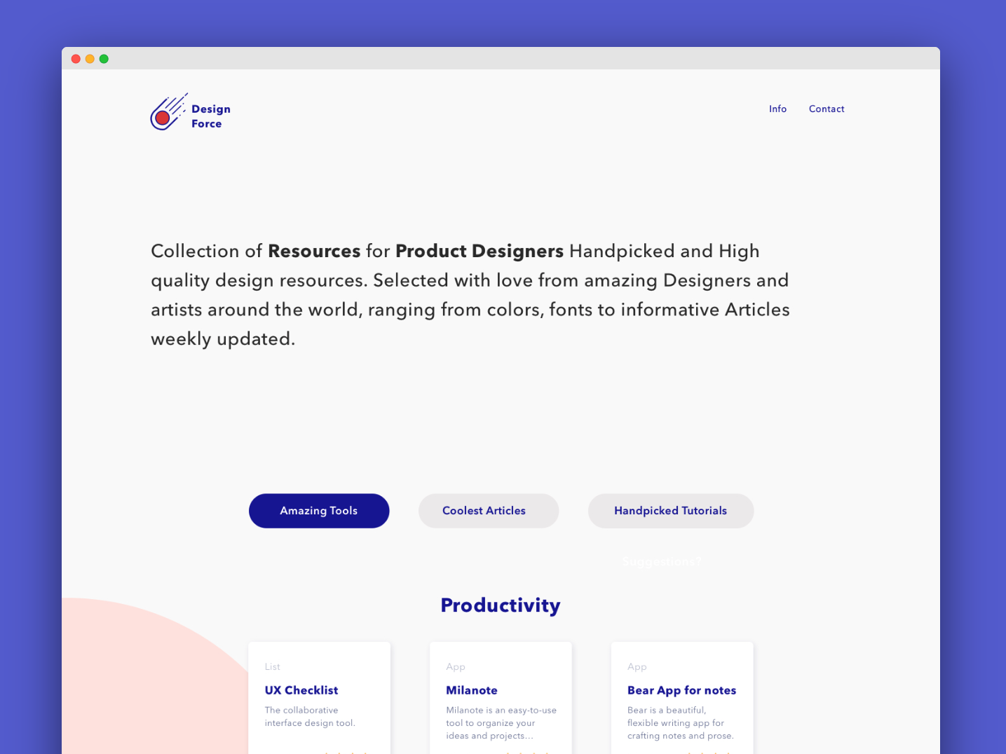 Landingpage Design Force in Progress design pracitice typography illustration minimal flat clean design ui web ux product design logo sketch app design productdesign uxui