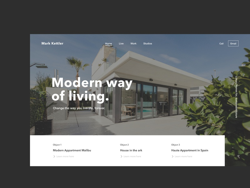 Real Estate Homepage Header Concept uxui appdesign typography logo sketch productdesign web website ui  ux online interface homepage design branding