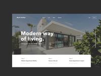 Real Estate Homepage Header Concept