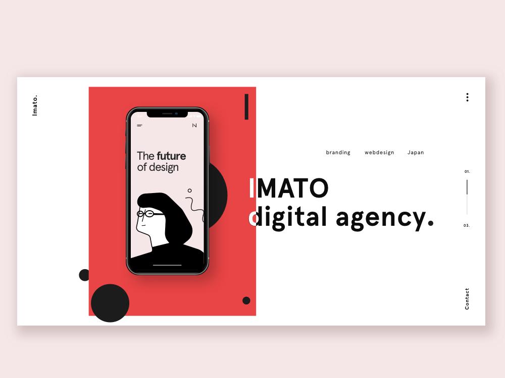 Agency Landingpage Concept minimal clean website digital design product design appdesign sketch ux web app vector icon logo illustration illustraion ui uxui productdesign branding design