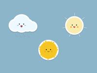 Weather Illustration Stickers