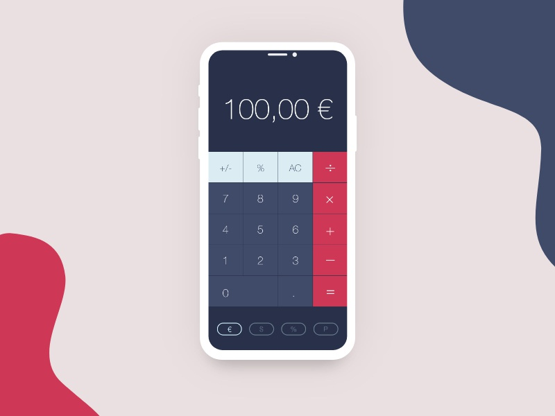 Daily UI - Calculator Screen icon app ui ux app design product design productdesign design uxui