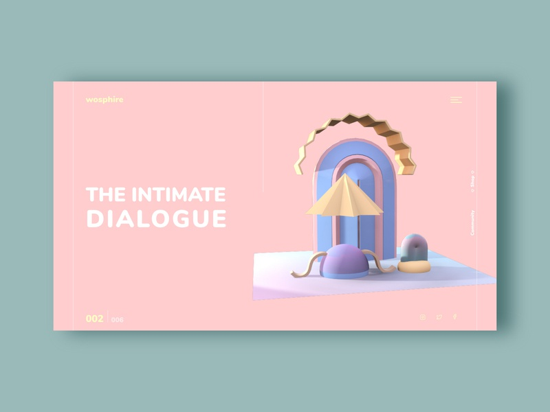Feminine made Visual 3d art logo brand icon product design app clean design webdesign website grid concept clean 3d illustration ux app design ui productdesign design uxui