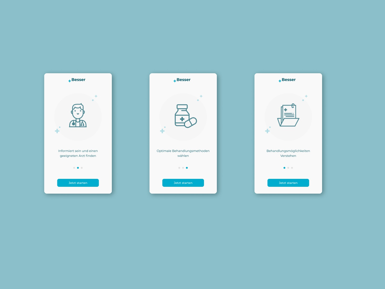 App Onboarding Screens for Medical App +Besser clean medical blue figma app web appdesign product design branding logo ui app design ux productdesign design uxui