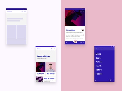 News app for young people using Material Design