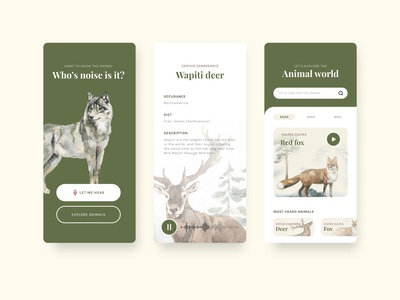 Who's voice/noise is it ? Shazam for Animals. productdesign typography app branding app design product design ui ux design uxui
