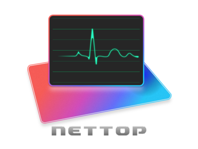 NetTop  appstore app icon logo macos icon network istats internet speed network utility wifi speedtest network speed monitor