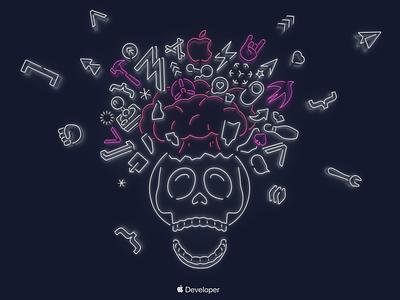 Skull Wallpaper WWDC19 download design background art background imac pro imac wide world conference developer illustration osx mac macos 5k apple wallpapers wallpaper wwdc19 wwdc