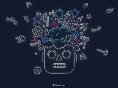 Robot Wallpaper WWDC19