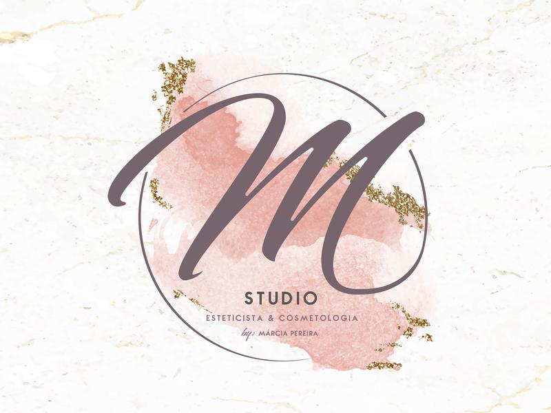 M Studio Cosmetic by Márcia Pereira branding logo illustration vector typography communication graphic design