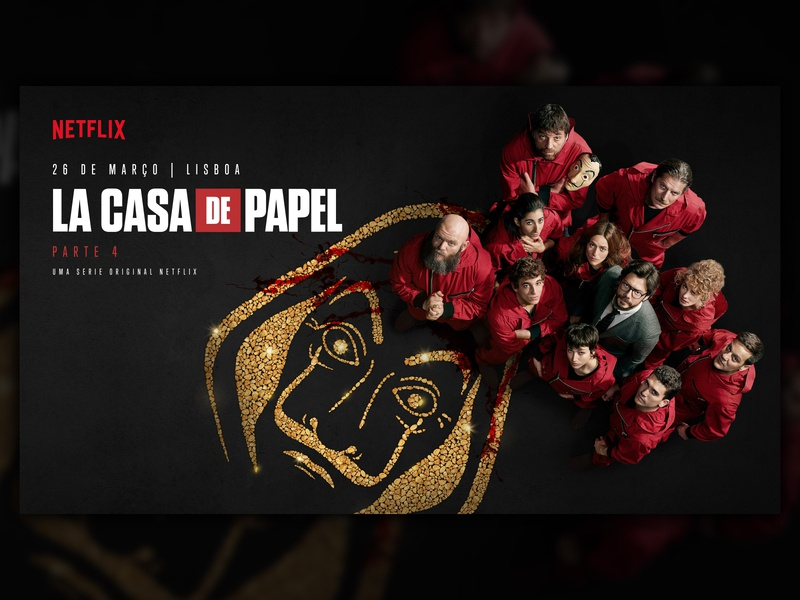 Key Visual for Netflix series La Casa de Papel key visual visual key serie series art series casa de papel papel la casa de papel lcdp heist money heist money netflix illustration typography mockup communication graphic design