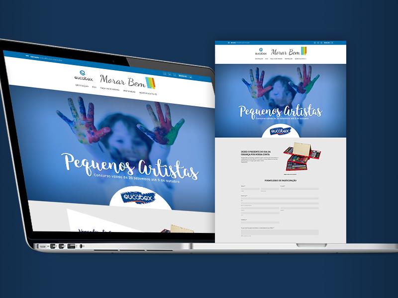 Morarbem Contest Blog Website Banner Eucatex Mockup banner blog ux typography ui communication desktop wireframe website web responsive mockup graphic design